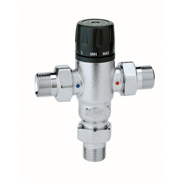 Industrial Thermostatic Mixing Valve: Caleffi Mixcal Class 2 TMV2 Thermostatic Mixing Valve