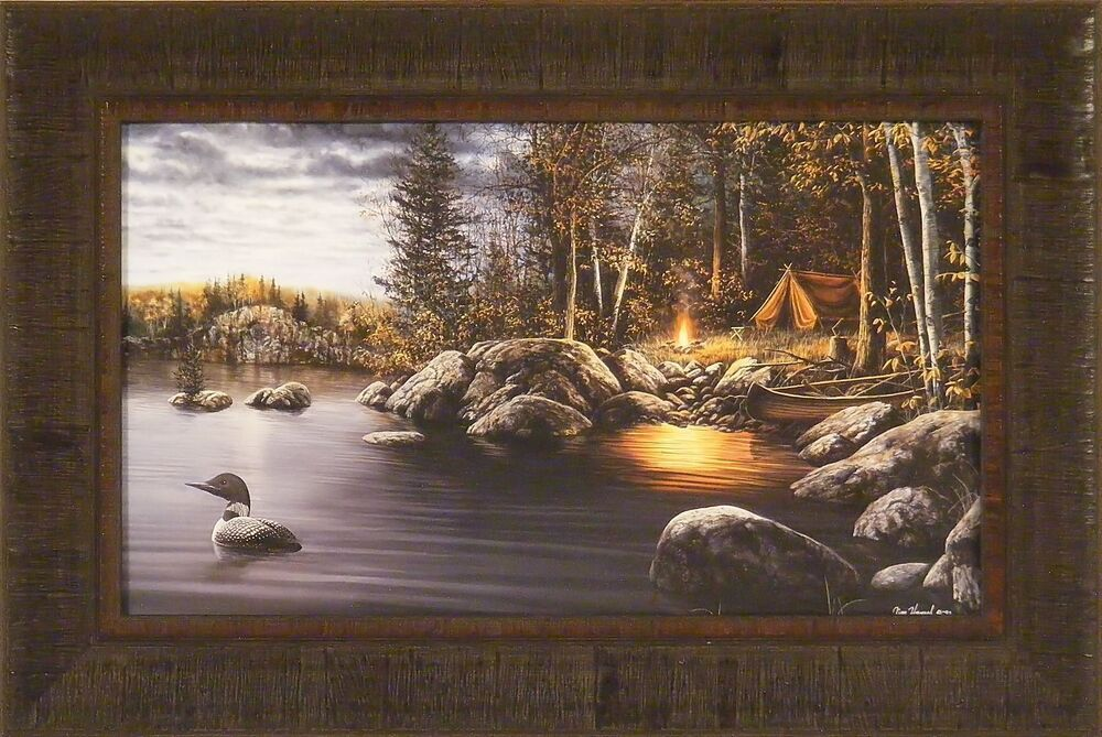 Northern Solitude By Jim Hansel 15x23 Framed Print Loon
