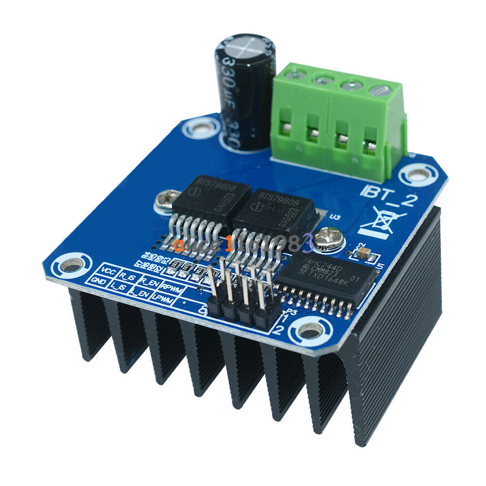 Double bts7960b dc 43a stepper motor driver h bridge pwm for H bridge dc motor driver