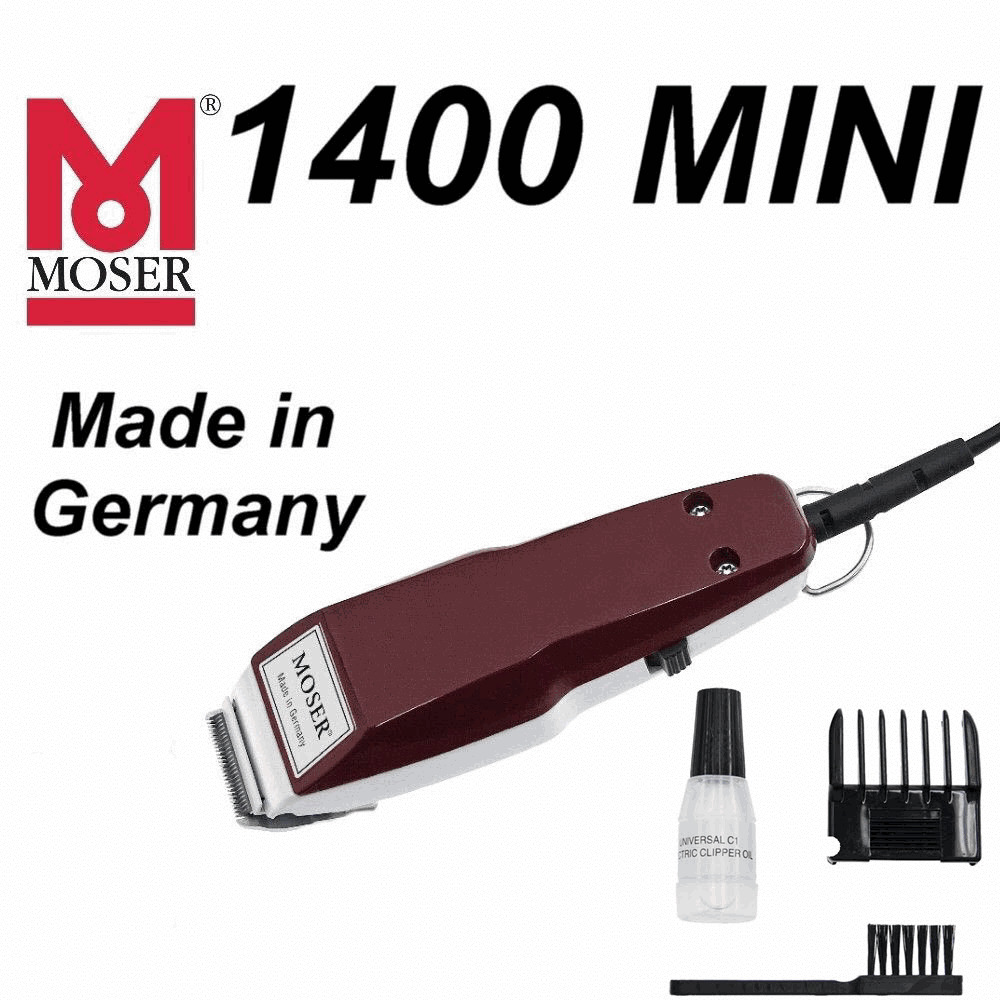 beard trimmer made in germany moser 1400 1411 mini professional corded hair trimmer 220. Black Bedroom Furniture Sets. Home Design Ideas