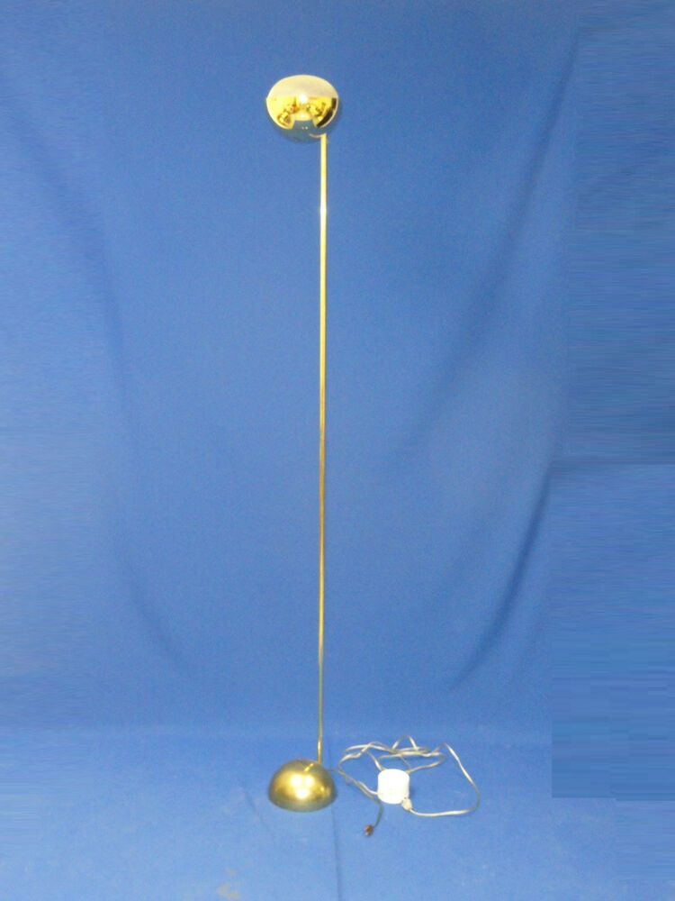 Chic Vintage Brass Kovacs Floor Lamp With Floor Dimmer
