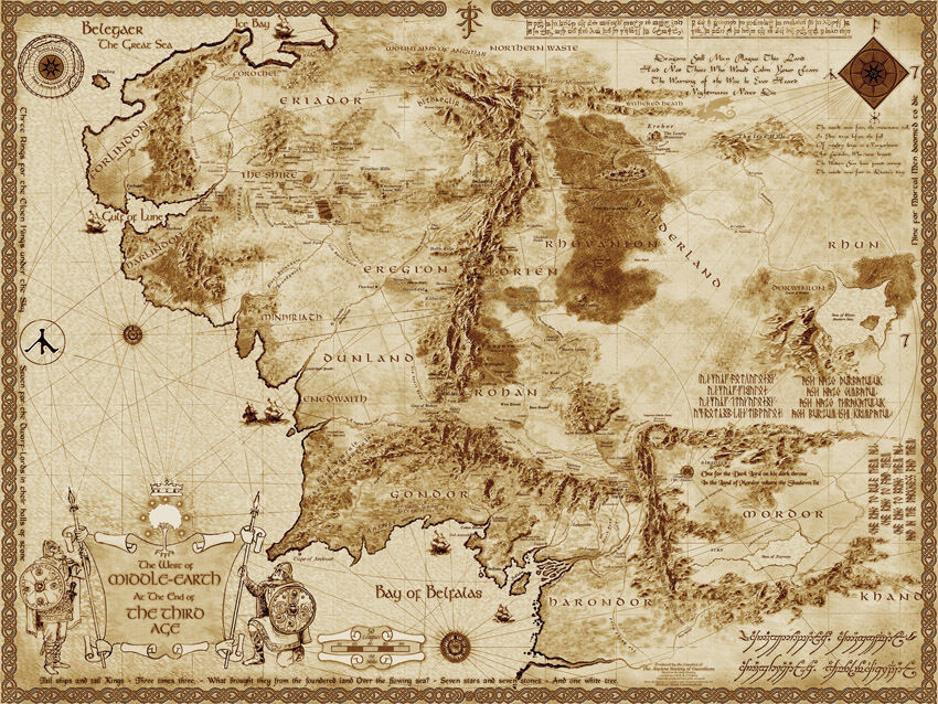 Did Maps In Middle Earth Have West
