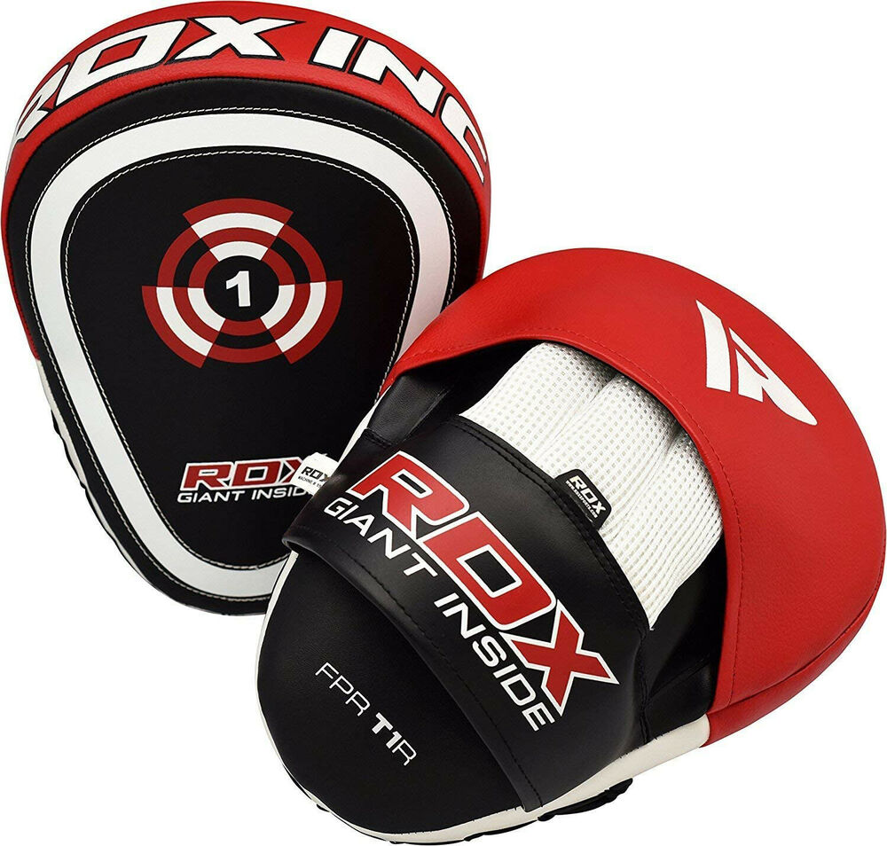 Focus Pads Hook/&Jab Mitts Kick Boxing Strike Punch Bag Sparring Glove Curved Pad