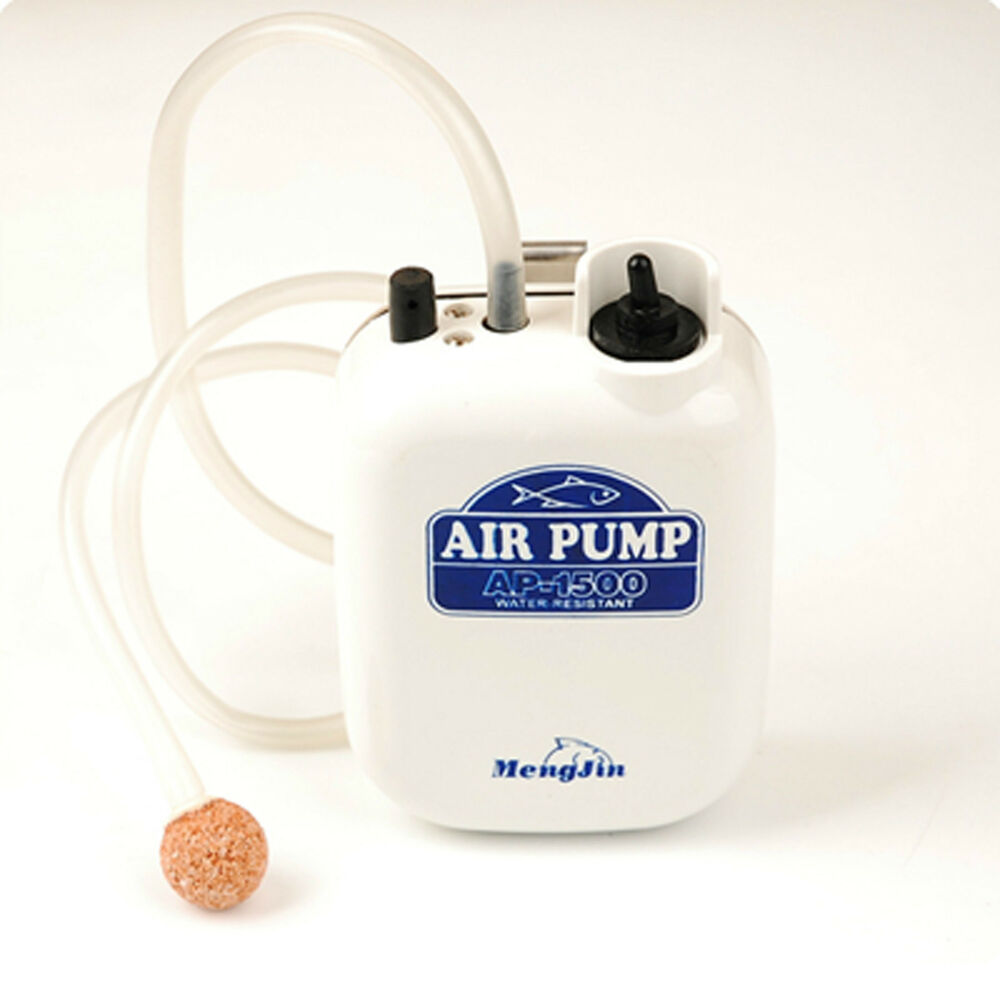 Portable air pump aerator live well bait fish fishing for Portable fish livewell