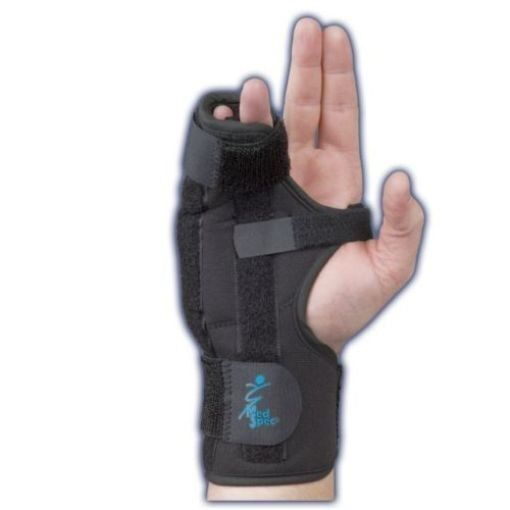 Medspec Boxer Splint Wrist Finger Support Black Left