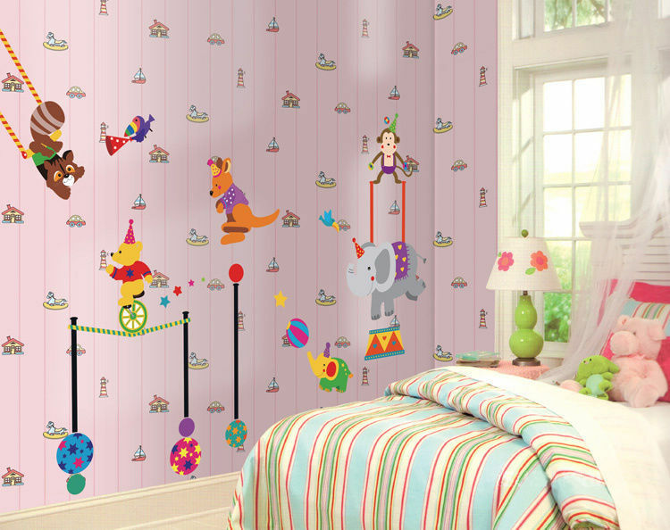 circus animals large childrens nursery wall sticker noahs ark large childrens nursery wall sticker decoration