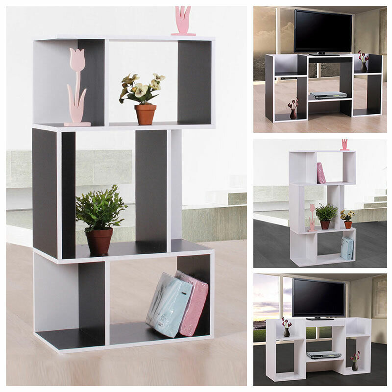 standregal b cherregal regal aus holz 109x59x30 cm schwarz wei ebay. Black Bedroom Furniture Sets. Home Design Ideas