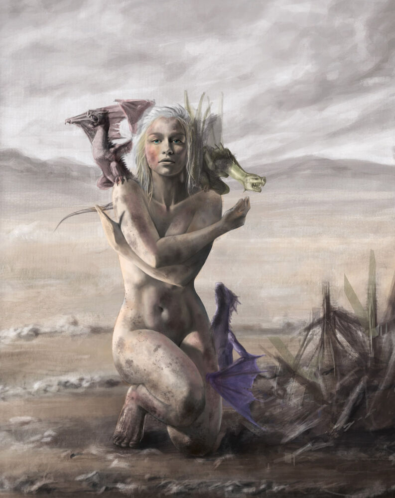 Mother of dragons naked