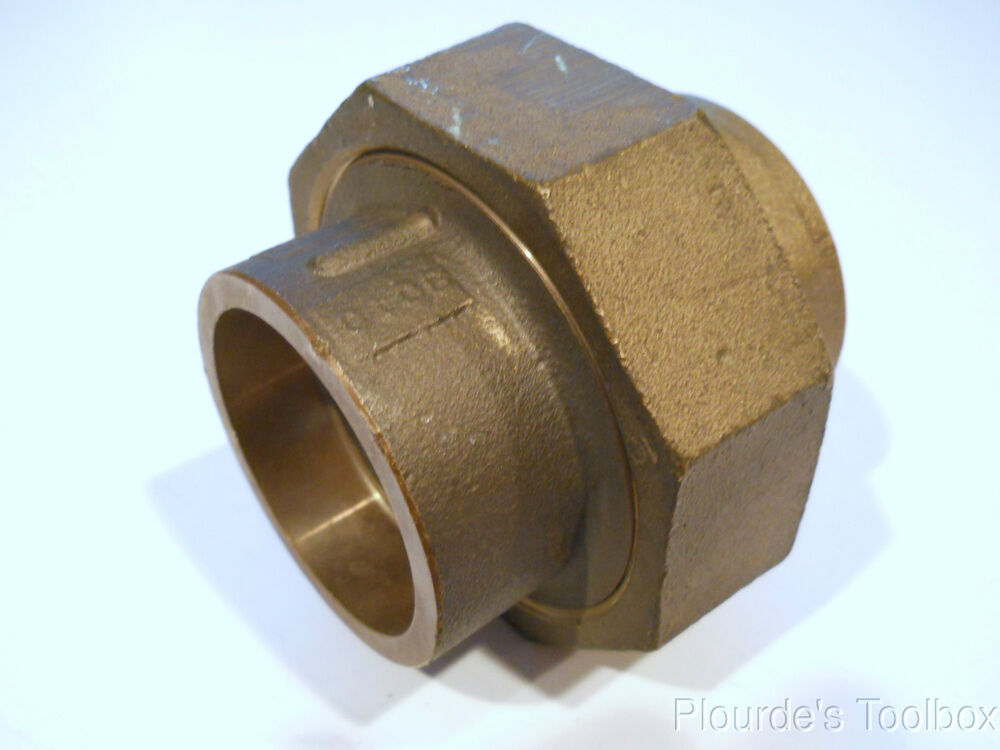 New quot flagg bronze socket weld brazed union pipe