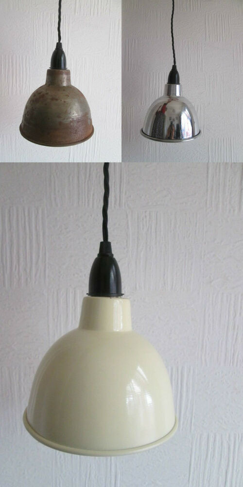 dome industrial factory enamel vintage retro old style pendant light