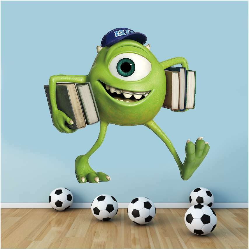 wall art graphic monsters inc university mike wazowski wall decal monsters inc wall decals for kids room disney