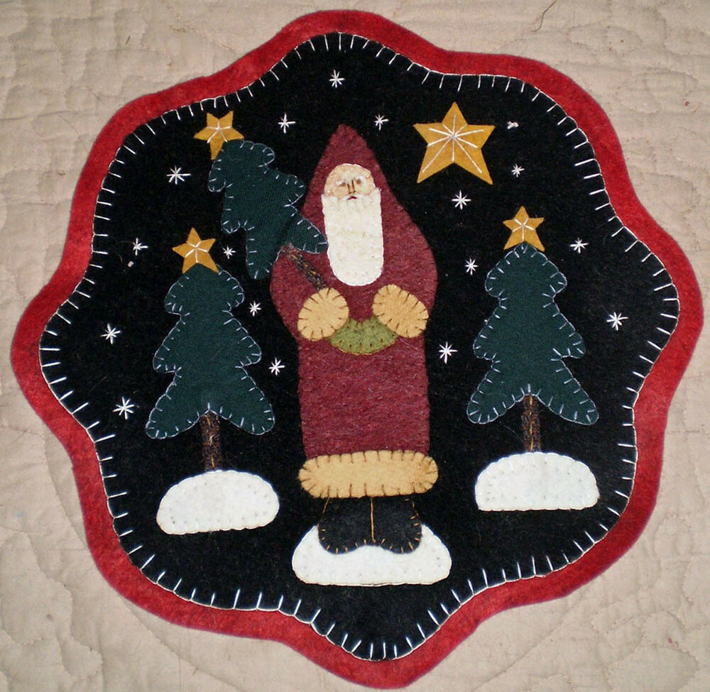 Four Christmas Candle Mat Penny Rug Patterns To Choose