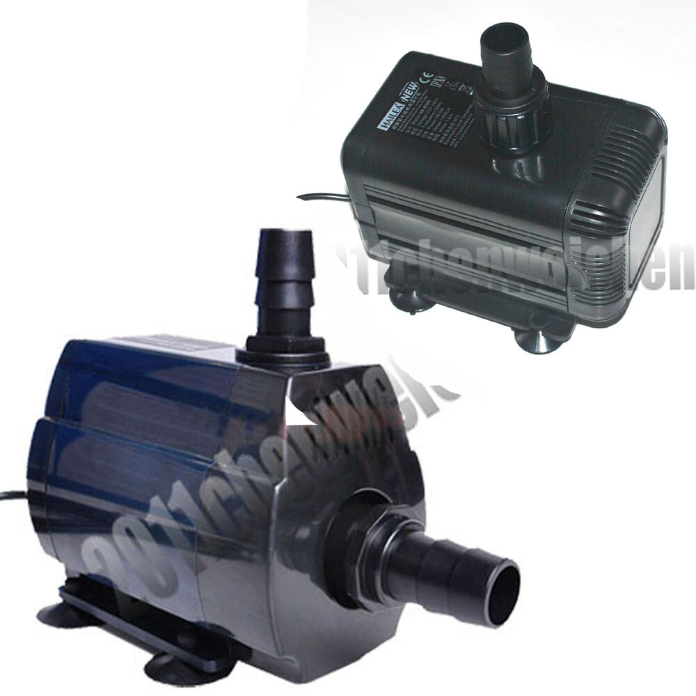 Aquarium 720 1400 4400 ltr inline immersible water pump for Koi fish pond water pump