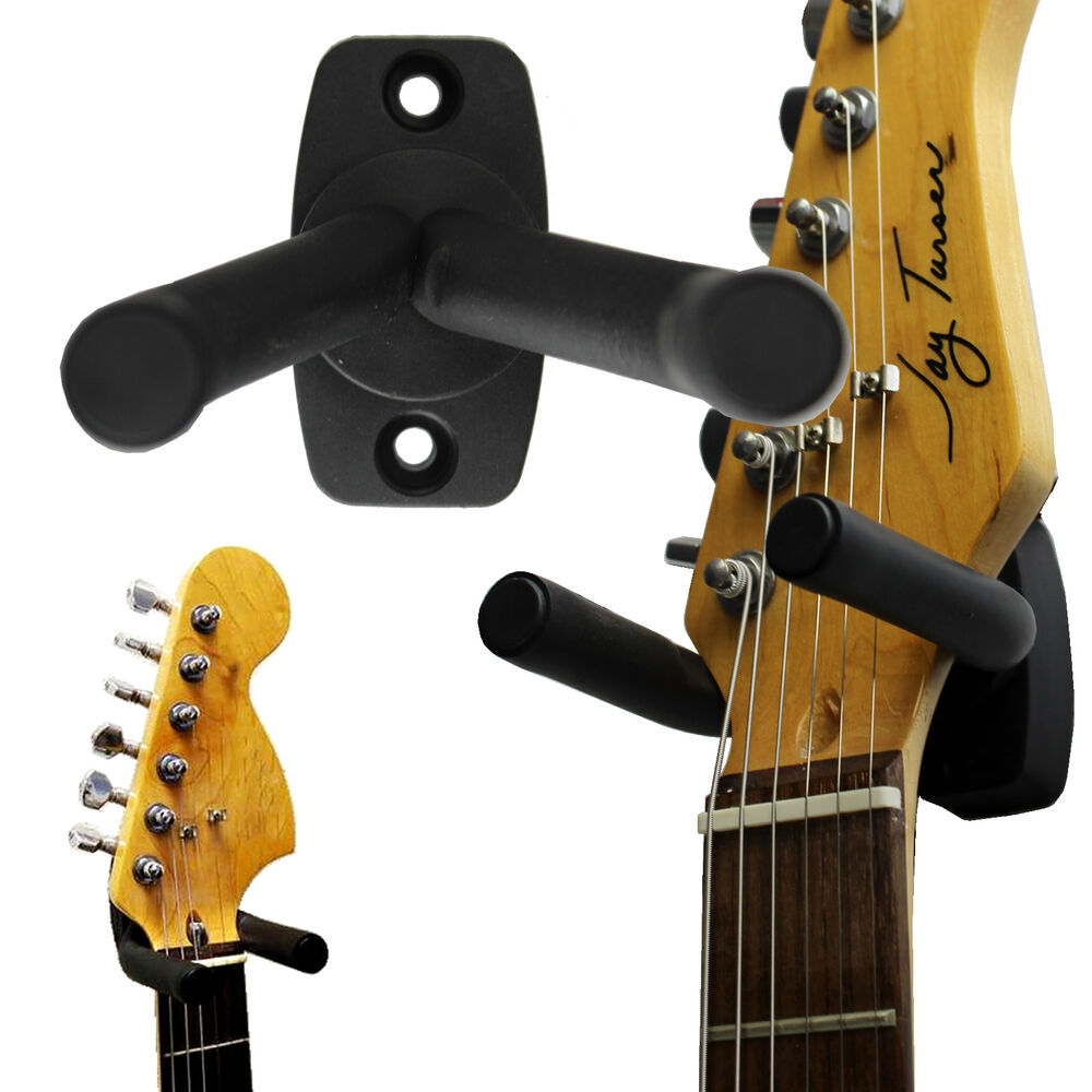 guitar wall mount hanger holder s tand rack ho ok bracket adjustable us seller ebay. Black Bedroom Furniture Sets. Home Design Ideas