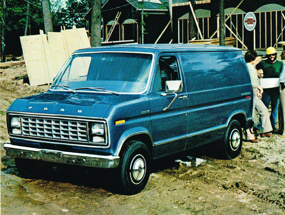 1981 ford econoline van brochure catalog e 100 150 250 ebay. Black Bedroom Furniture Sets. Home Design Ideas