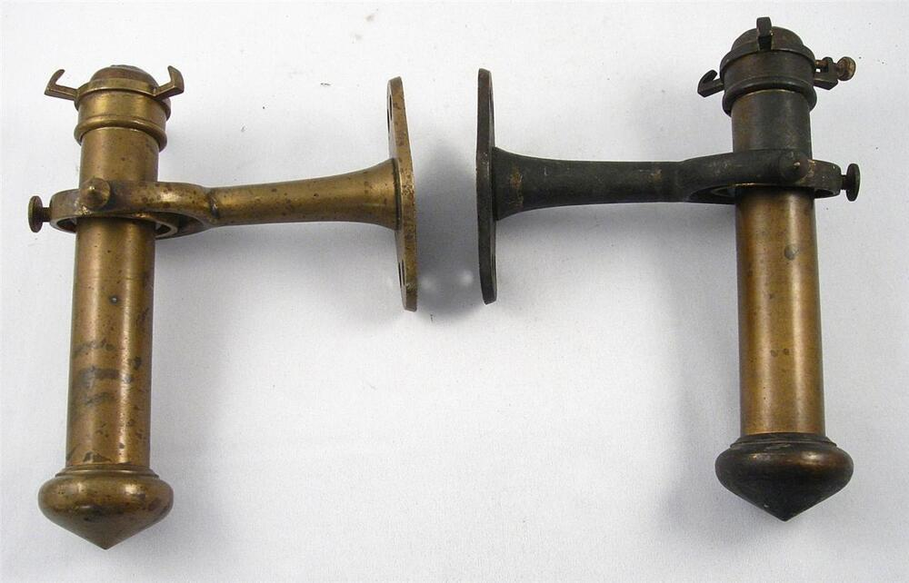 SCARCE ANTIQUE PAIR BRASS NAUTICAL SHIP GIMBAL MOUNT CANDLE HOLDERS WALL LAMP eBay