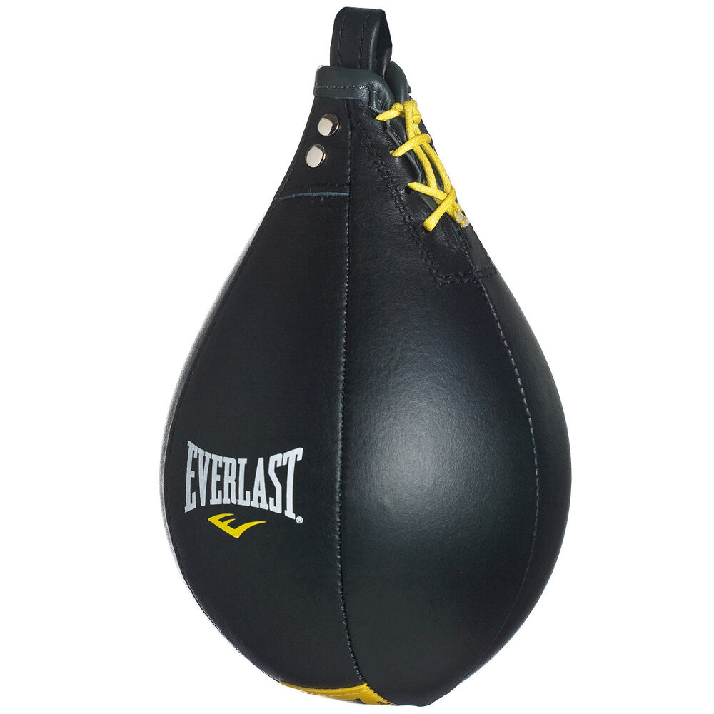 everlast boxing leather punching speed bag black ebay
