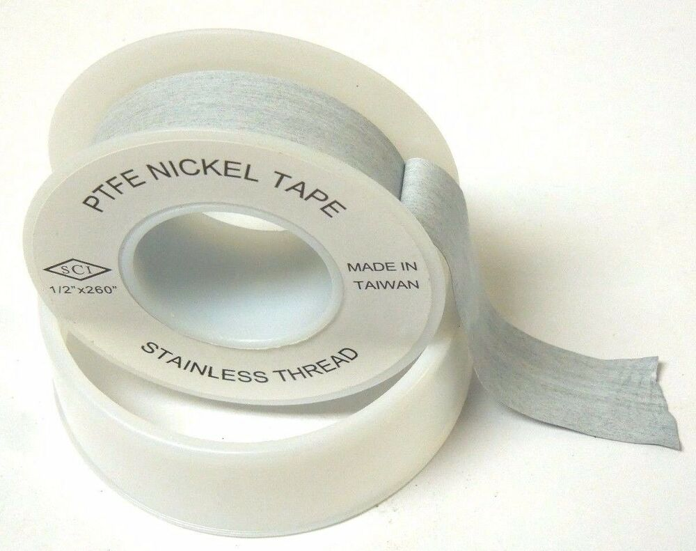 Teflon Tape W Nickel For Stainless 1 2 Quot X 260 Quot Thread