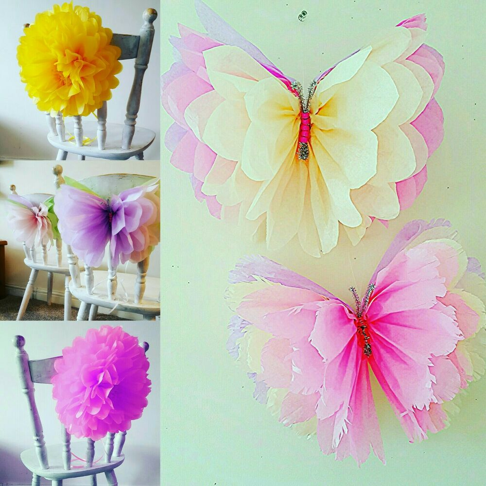 Paper pom pom decorations