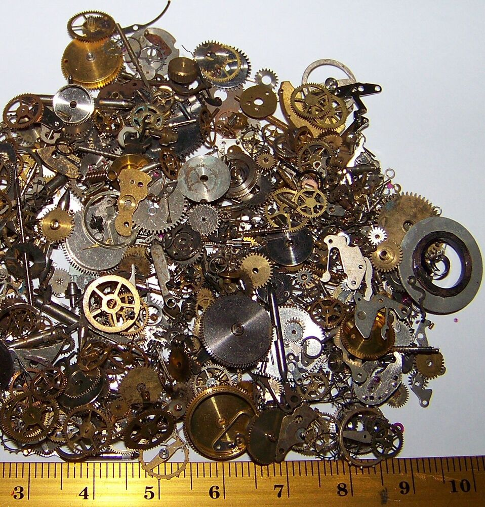 Free World Ship Gears Craft Lot 10g Old Steampunk Watch