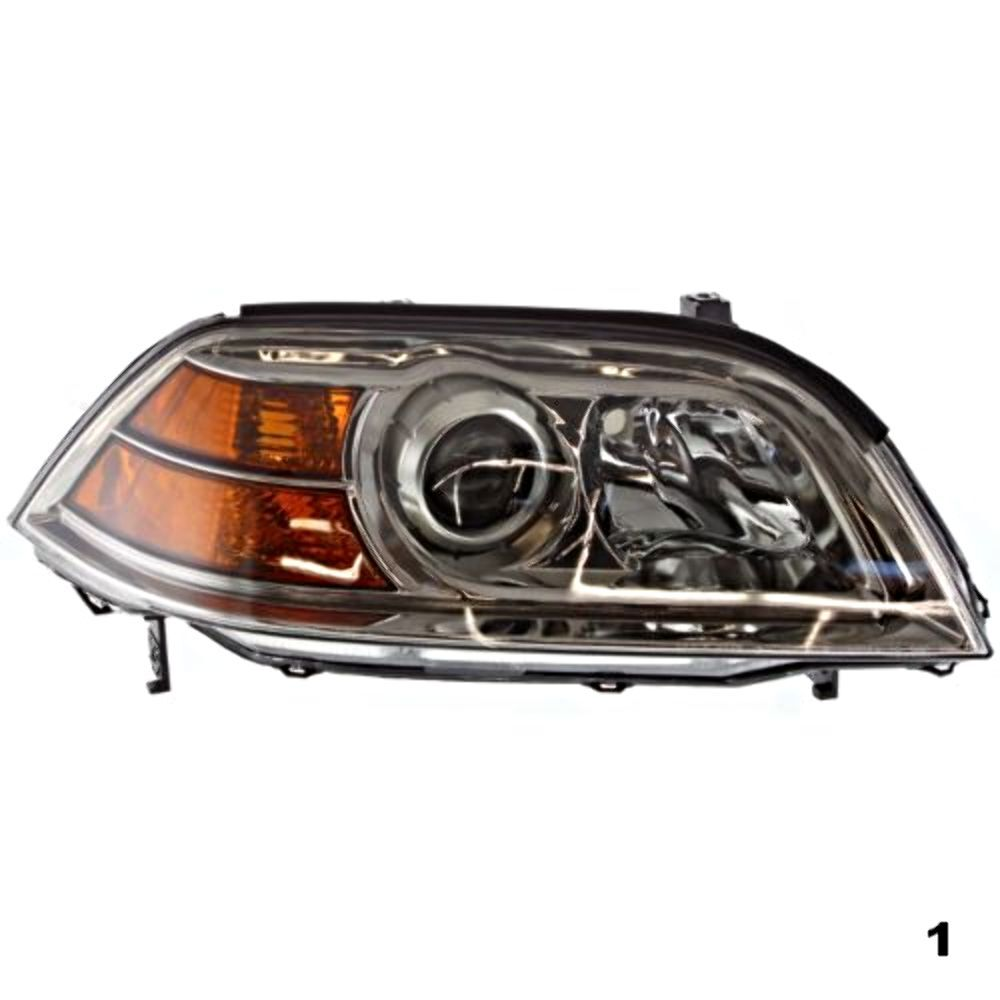 04-06 Acura MDX Right Passenger Headlight Assembly Without