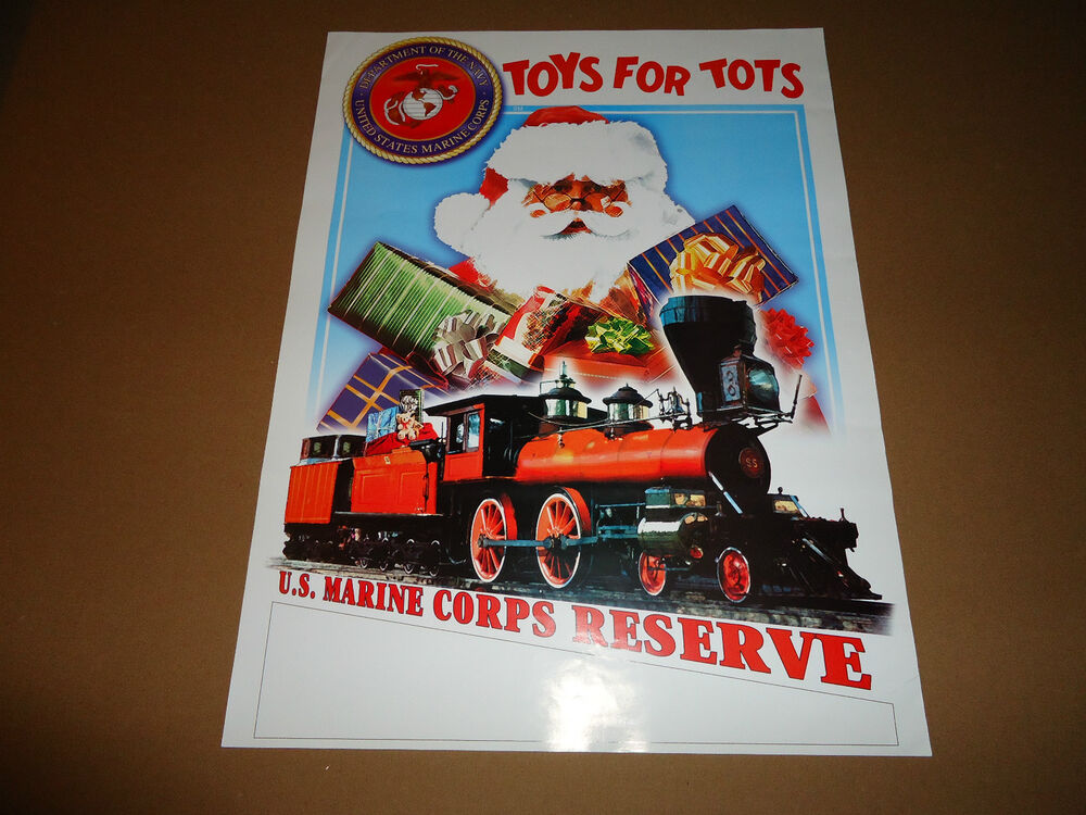 Usmc Toys For Tots Posters : Vintage us marine corps reserves usmc marines toys for