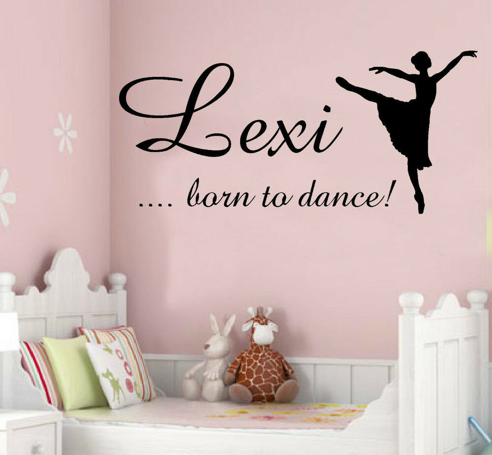 CHILDRENS WALL ART STICKER QUOTE ~ PERSONALISED DANCE ...