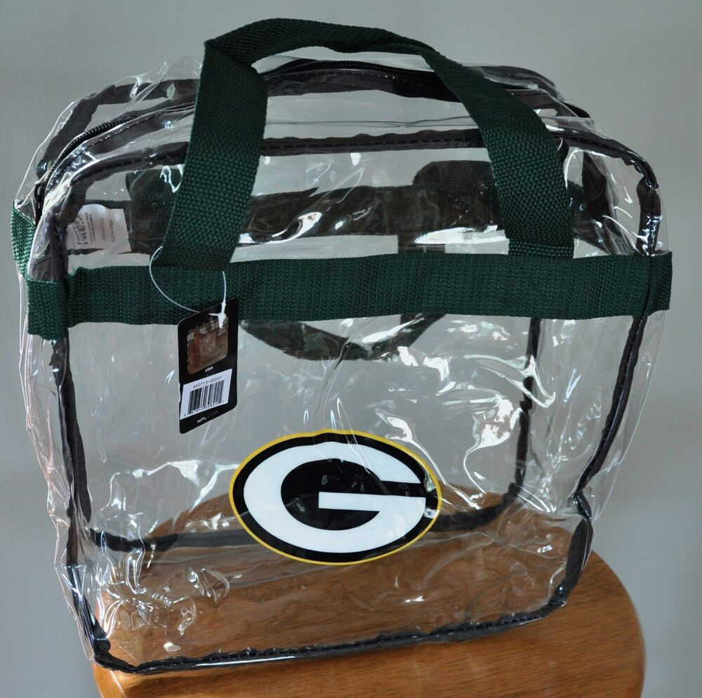 270b9e0160 Details about Green Bay Packers CLEAR Messenger Tote Bag Purse - Meets  Stadium Security Reqs