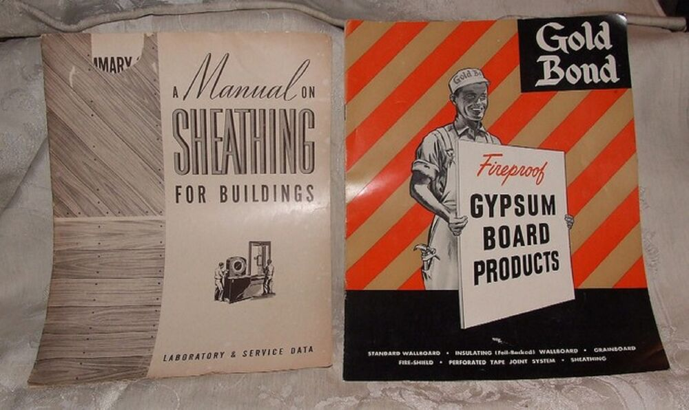 2 Builder 39 S Booklets 1941 Manual On Sheathing 1953 Gold