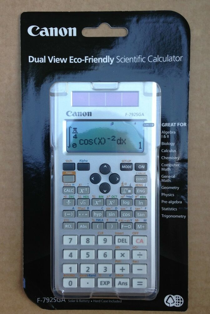 CANON F-792SGA Scientific LCD Calculator Algebra Geometry Calculus ...