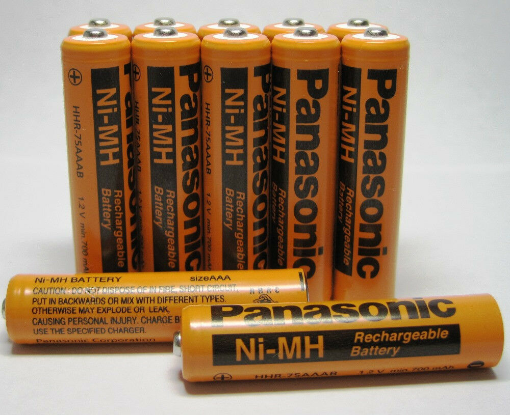 12 pcs panasonic aaa rechargeable batteries for cordless phones 700mah nimh ebay. Black Bedroom Furniture Sets. Home Design Ideas