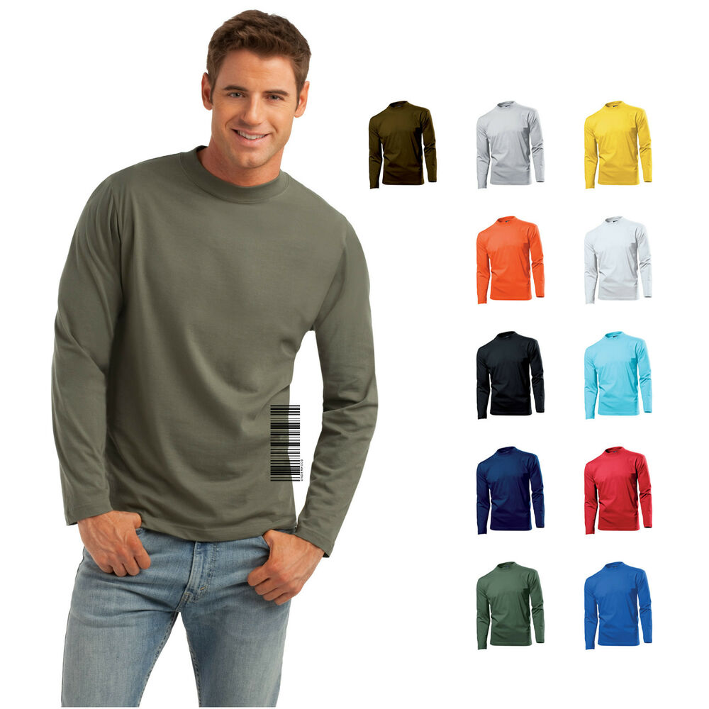 Hanes long sleeve heavy t 100 cotton crew neck t shirt for Mens 100 cotton long sleeve t shirts