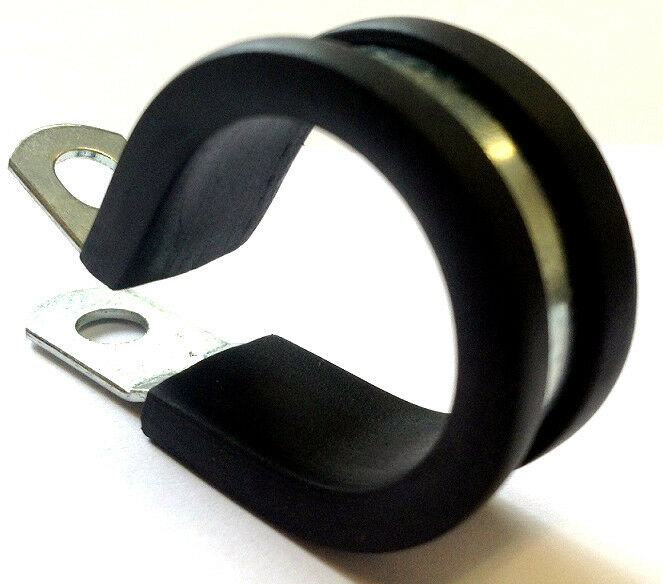 Steel Pipe Clips : Epdm rubber lined p clips hose pipe clamp cable wiring