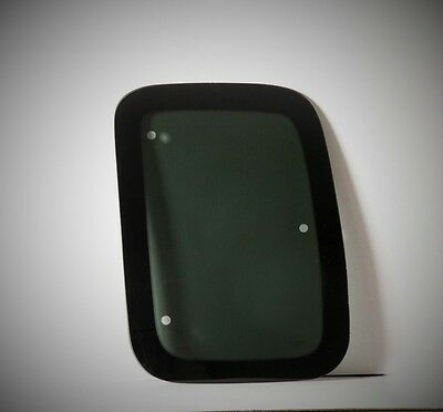 Fits: 97-03 Ford F150 Super Cab Driver Side Rear Quarter Glass 3 Holes Movable