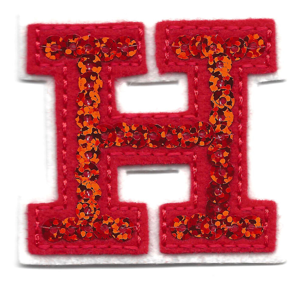 letter appliques iron on letters sequin 2 quot letter quot h quot iron on embroidered 8205