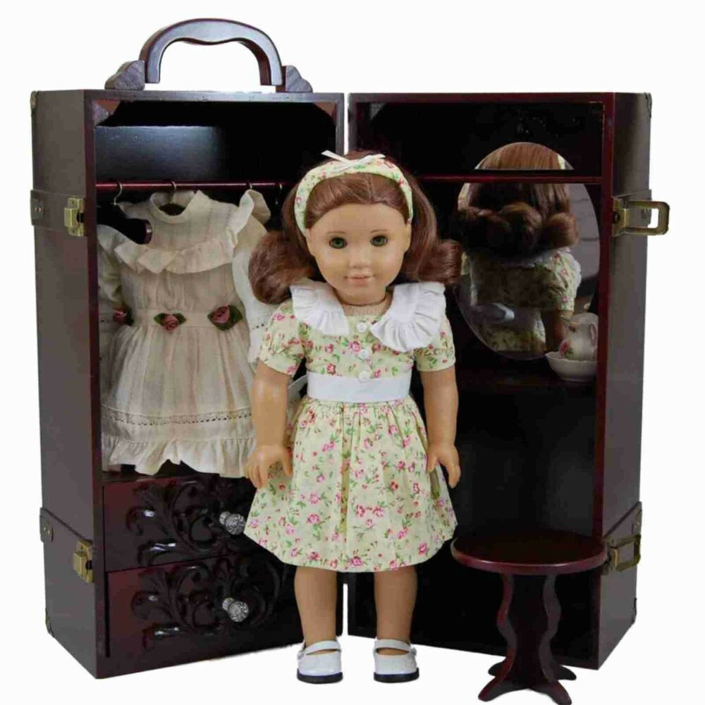 "Storage Trunk Armoire Case Vanity FOR 18""AMERICAN GIRL ..."