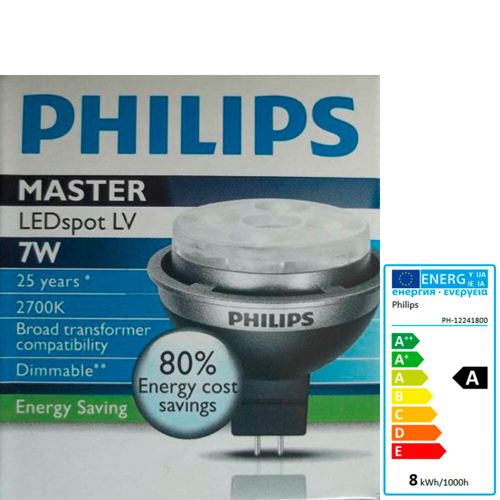 led lampe philips mr16 spot 7 watt strahler leuchte ersetzt halogen 12 volt 12v ebay. Black Bedroom Furniture Sets. Home Design Ideas