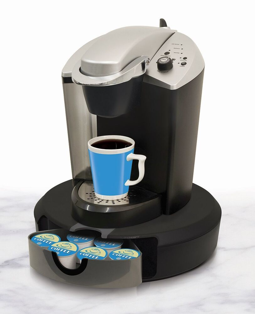 Small Coffee Maker Using Pods : Coffee Pod Carousel Stores Flavors Containers Rotates Spins Holds 24 Base Maker eBay