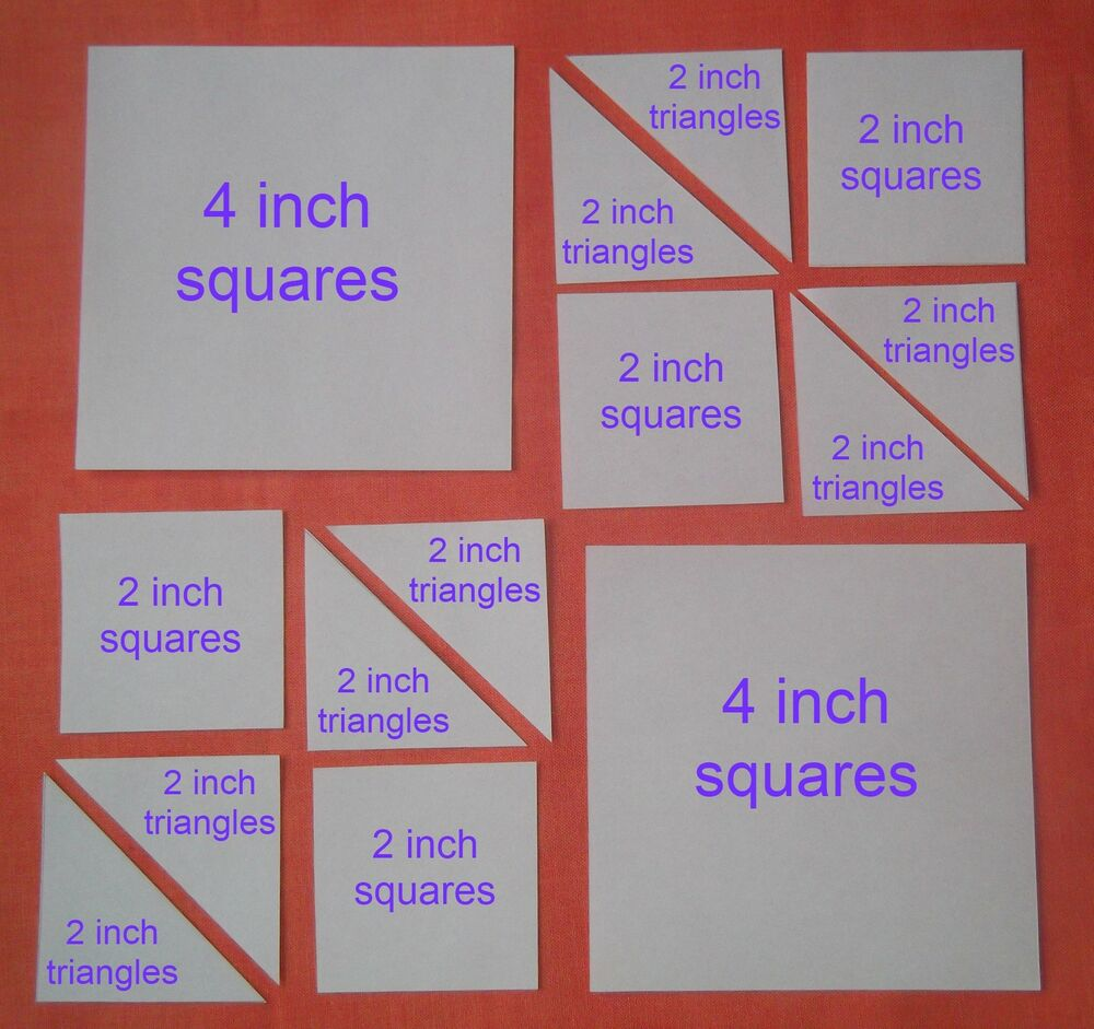 70 SQUARE & TRIANGLE TEMPLATES FOR PATCHWORK ~NEW COMBO PACK~ QUILTING KITS eBay