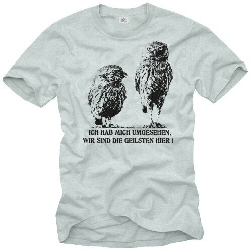 Funny men slogan womens t shirt with owl design print T shirt with owl design