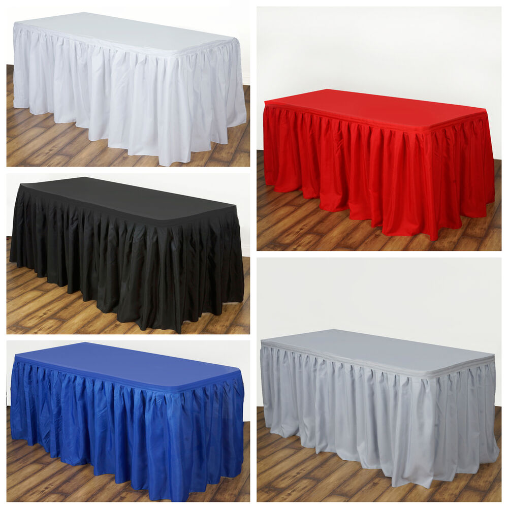 21 Feet X 29 Quot Polyester Banquet Table Skirt Wedding Party
