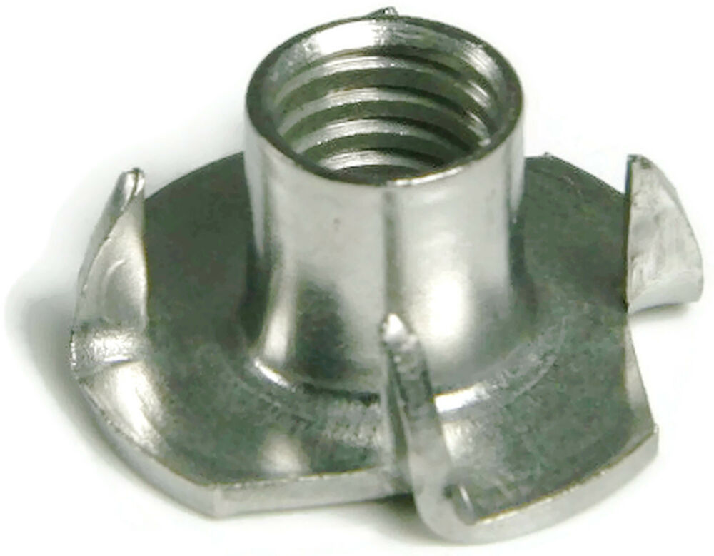 Steel T S : Stainless steel t nut unc prong qty