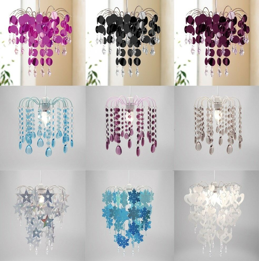 Easy Ceiling Lamp Shade: Chandelier Chic Ceiling Pendant Light Shade Crystal