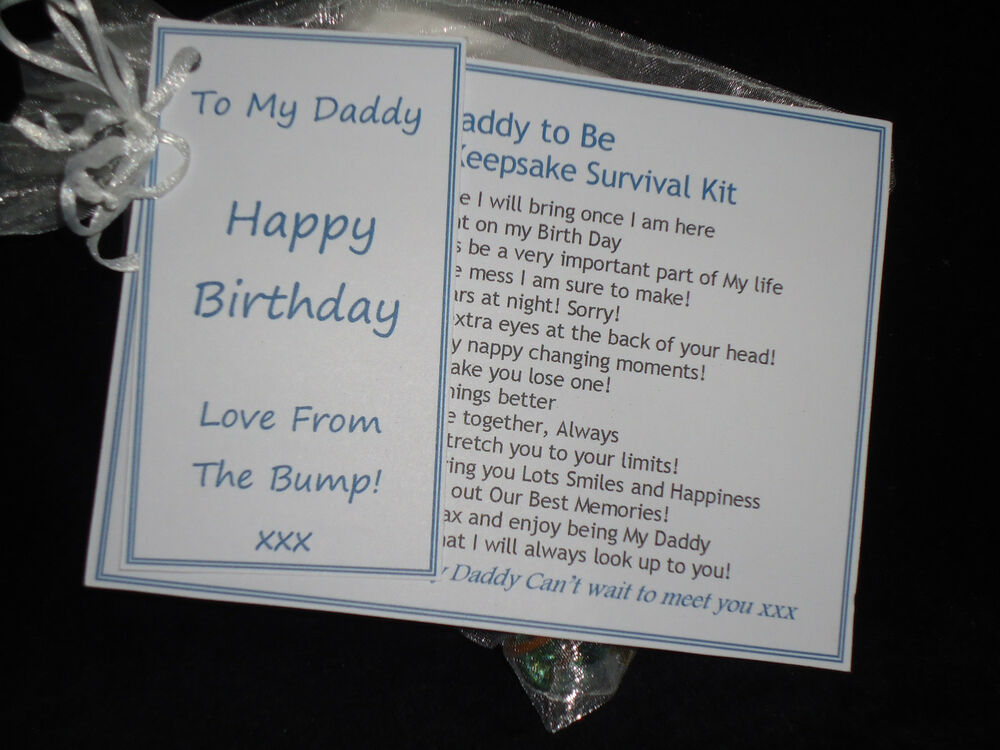 Dad Daddy To Be Birthday Gift Card Fathers Day Present From The Bump Mum