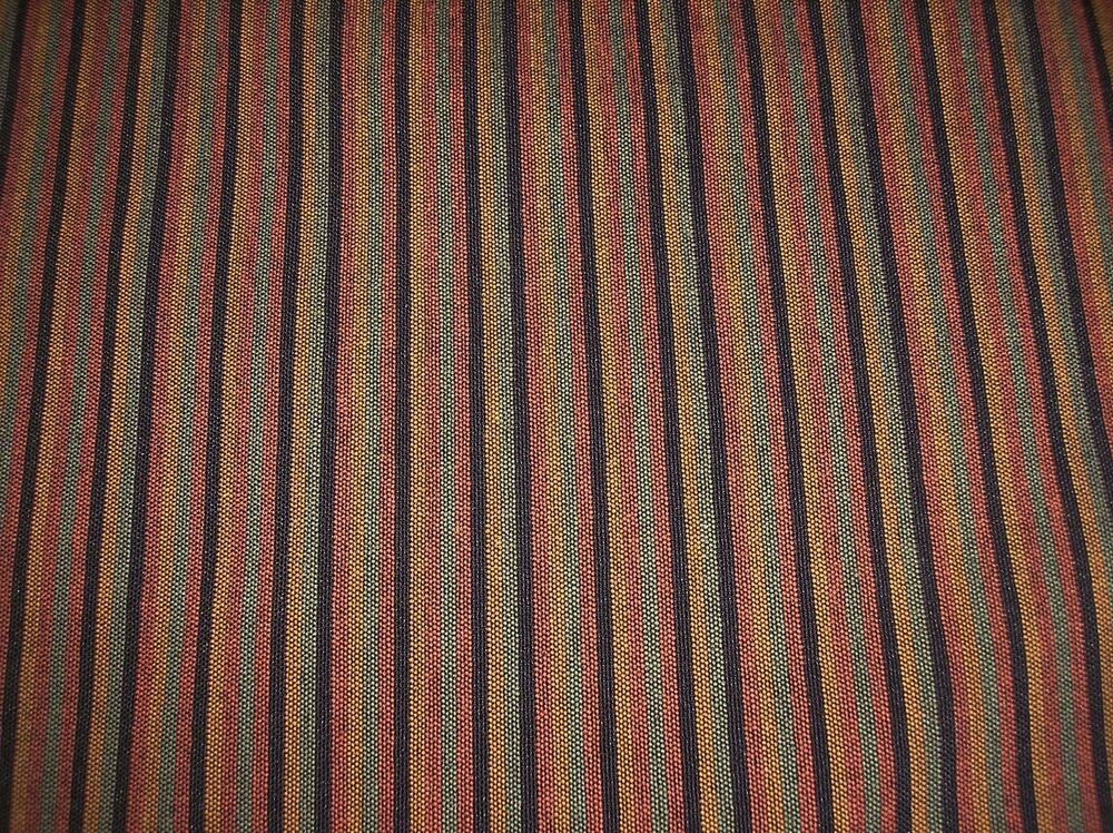 Rust Gold Black Green Striped 56 Quot Wide Upholstery Fabric