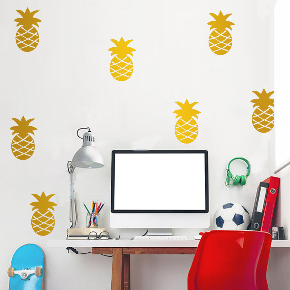 Set of 32 pcs pineapple wall stickers kids decal vinyl art for Decal wall art mural