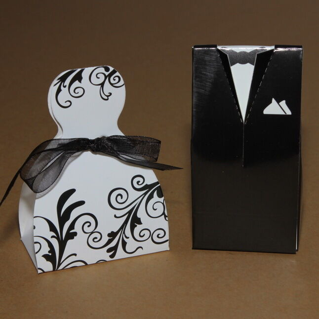 Wedding Gifts From Bride And Groom To Guests : Bride and Groom wedding favour boxes table decoration guest gift UK ...