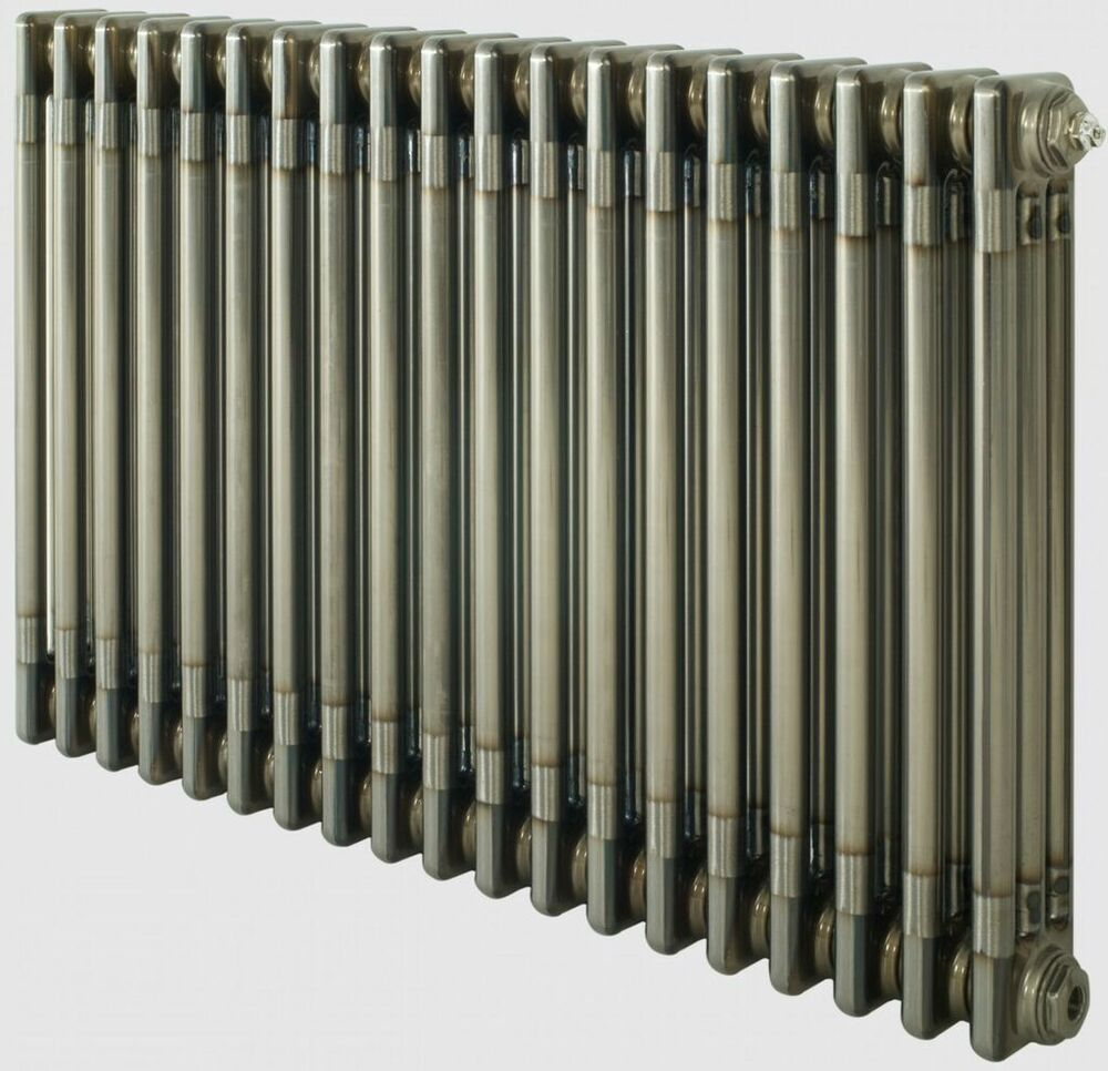 Traditional Radiator Bare Raw Metal Finish Lacquered