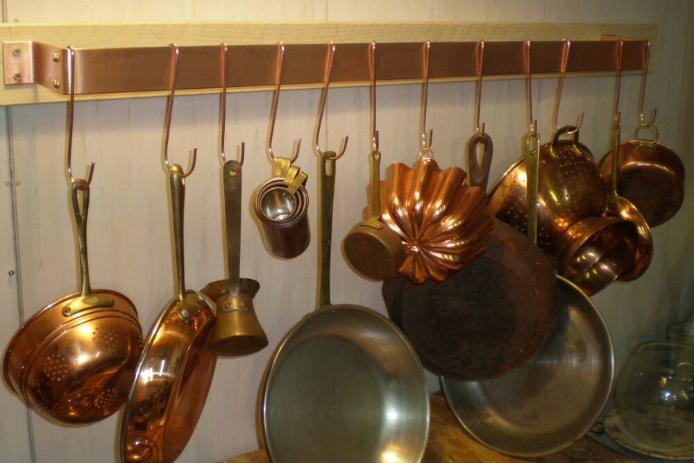 36 IN. W X 5 IN D X 1 1/2 IN H - WALL MOUNTED SOLID COPPER ...