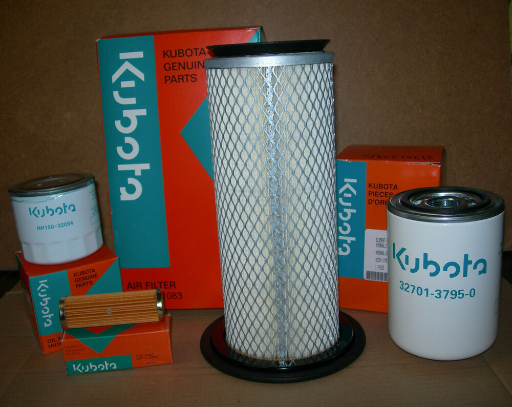 Tractor Hydraulic Oil Filter Lookup : Genuine filter kit for kubota b hst tractor inc air oil
